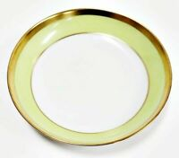 "Haviland Limoges Laque De Chine Gold Rim - Pistache Coupe Soup Bowl, 7 1/2"" D"