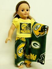 Green Bay Packers PJ's For 18 Inch Doll