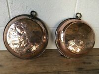 Antique Georgian 18th/19th century Pair of  copper & brass sieves