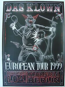 """DAS KLOWN - European Tour"" Concert Poster Signed by Marco Almera"