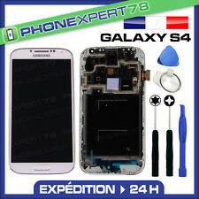VITRE TACTILE + ECRAN LCD SUR CHASSIS SAMSUNG GALAXY S4 i9505 LTE BLANC + OUTILS