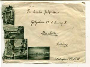 Latvia illustrated cover to Sweden 15.11.1940, roughly opened at left