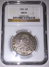 1830 50c Capped Bust Half Dollar NGC AU53
