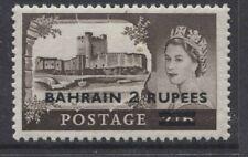 BAHRAIN - 1955/60 CASTLES TYPE III 2r ON 2/6d DLR MINT SG.94b (REF.E26)