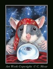Mouse Mice Crystal Ball Fortune Teller Magic ACEO Limited Ed Art Print 1/25