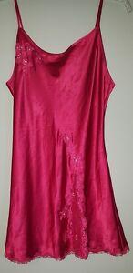Victoria's Secret, Red/Lace Trim Slip/Nighty, Size Medium