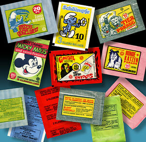 6 Unopened AMERICANA MÜNCHEN Collecting Images Bags Chewing Gum Horror Car 70er