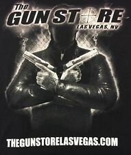 The Gun Store Las Vegas NV Black White Logo Tee T Shirt Men's 2XL XXL