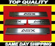 KIT! Mitsubishi ASX 2010-2016 4PC Black Carbon Vinyl Door Sill Protectors