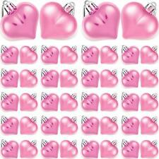 Willbond 48 Pieces Valentine Heart Baubles Heart Shape Ornament Electroplated An