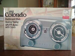 Crosley Collector's Edition 1952 Colorado Dashboard AM/FM Clock Radio CR52 NIB