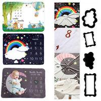 Baby Newborn Monthly Growth Milestone Blanket Photography Prop Background Gift