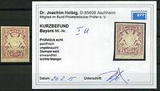 Bayern unverausgabte 2 Mark Wappen 1890**  ungezähnt Michel I U Befund (S10713)