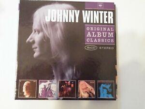 JOHNNY WINTER ORIGINAL ALBUM CLASSICS X5 CD  VG+