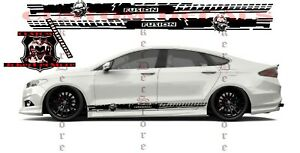 Ford Fusion 2x body decals side stripe sticker logo graphics vinyl high quality