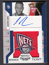 Damion James 2010-11 Playoff Contenders Patches Rookie Ticket Autograph Card 173