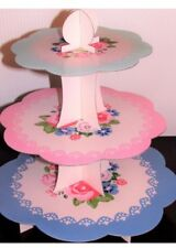 3 Tier Cake Stand- cardboard- Afternoon Tea - Party Cake Muffin Display Floral