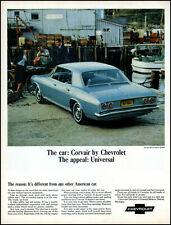 1965 Corvair Monza Sport Sedan Car Fresh Fish market retro photo print ad L44