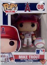 "MIKE TROUT Anaheim Angels (HOME) Pop MLB Baseball 4"" Vinyl Figure #8 Funko 2018"