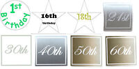 Aged Birthday gloss and metallic stickers labels invitation seals party   x 50!