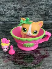 💖Littlest Pet Shop Lps Tan Shorthair Cat #72 Green Eyes Blemished&Accessories 💖