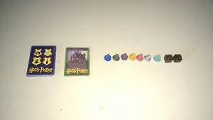 Harry Potter And The Sorcerer's Stone Boardgame PAWNS,DICE and CARDS ONLY!