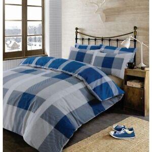 Blue Tartan Kingsize Bed Set