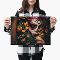 A3| Calavera Catrina Face Skull Lady - Size A3 Poster Print Photo Art Gift #3159