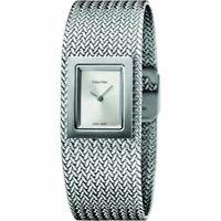 Calvin Klein K5L13136 Mesh Silver Dial Ladies Watch