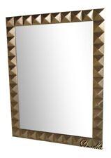 38149: Friedman Brothers #7147 Dolomiti Silver Geometric Modern Mirror ~ New