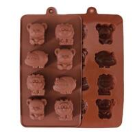 8 Cavity Silicone Animals Chocolate Cake Soap Mold Baking Ice Tray Mould DIY W