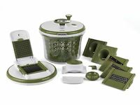 Salter All In One Food Preparation Set Green Food Salad Maker Mandolin Julienne