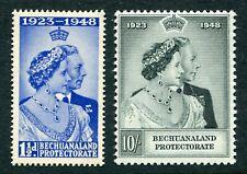 More details for bechuanaland 1948 royal silver wedding set of 2 stamps sg136-137 mnh - dg320