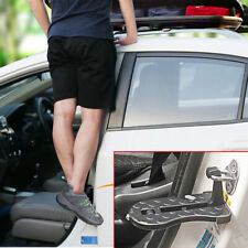 Folding Car Door Step Metal Foot Pedal Ladder Latch Hook for Jeep Truck SUV Roof