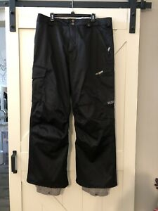 BURTON BLACK DRY RIDE WATERPROOF SNOWBOARD PANTS MENS XL