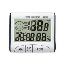 LCD Digital Thermometer Hygrometer Temperature Humidity Meter Clock Alarm
