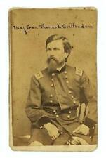 1860's CIVIL WAR CDV Maj Gen THOMAS L. CRITTENDEN UNION ARMY OF THE CUMBERLAND