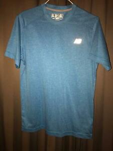 NEW BALANCE sports T shirt - blue - AUS - MED - Polyester - worn once