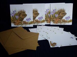 """WRENDALE """" New Beginnings"""" (Hedgehog) Notecard Pack with envelopes"""