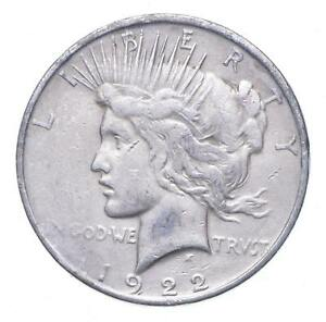 Early - 1922-D Peace Silver Dollar - 90% US Coin *415