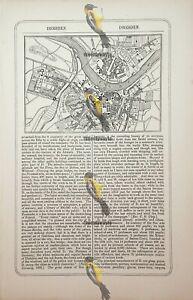 Dresden, Germany, Map, Book Illustration (Print), 1856
