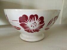 Bol ancien café au lait floral Hibiskusblüte old ancient french bowl+
