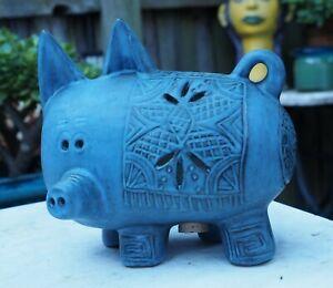Vintage McLaren Australian Pottery Piggy Bank Pig Figure