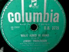 Jimmy Parkinson 'Walk Hand In Hand' & 'Cry Baby' - 78rpm