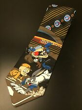 Looney Tunes Toronto Blue Jays Baseball Neck Tie, Bugs Bunny Taz Yankees