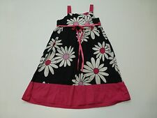 Pinky Girls Size 7-8 Pink & Black Floral Dress Great Condition