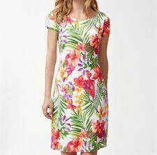 NWT MSRP $145 - TOMMY BAHAMA Marabella Blooms Ponte Dress, White Multi, MEDIUM