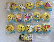 MCDONALDS 2016 EMOJI SET WITH 2  3D HOLOGRAM STYROFOAM 18 ITEMS MINT