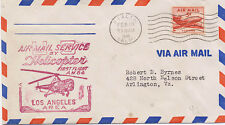 US 1948 First Flight Cover Helicopter Rialto to Los Angeles CA AM 84-42 FFC