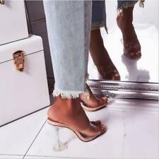 PVC Jelly Slippers Open Toe High Heels Women Transparent Shoes Heel Clear Sandal